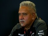 Force India chairman Vijay Mallya attends a press conference on October 23, 2015