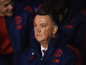 Louis van Gaal during the FA Cup game between Shrewsbury Town and Manchester United on February 22, 2016