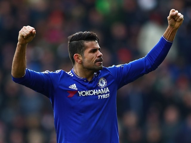 Diego Costa celebrates scoring during the Premier League game between Southampton and Chelsea