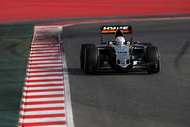Force India Feb testing day 1
