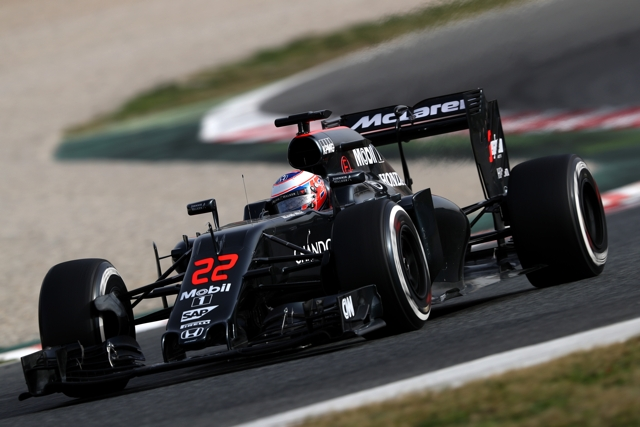 Mclaren F1 Jenson Button barcelona test feb 2016