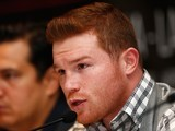 Big ginger Canelo Alvarez sends a smouldering look down the camera on February 29, 2016