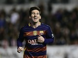 Lionel Messi scores during the La Liga game between Rayo Vallecano and Barcelona on March 3, 2016