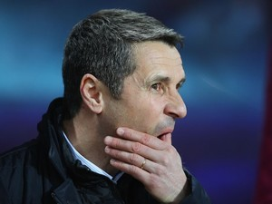 Remi Garde wonders WHY during the Premier League game between Aston Villa and Everton on March 1, 2016