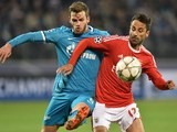 The handsome Nicolas Lombaerts and Jonas in action during the thrilling Champions League game between Zenit and Benfica on March 9, 2016
