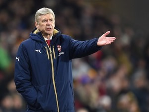 Arsene Wenger during the FA Cup game between Hull City and Arsenal on March 8, 2016