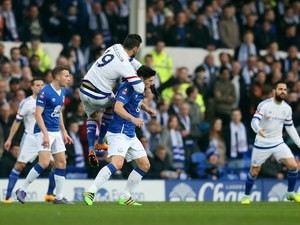 Diego Costa performs GBH on Gareth Barry during the FA Cup game between Everton and Chelsea on March 12, 2016