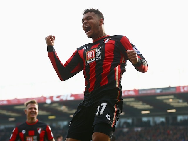 Joshua King celebrates scoring during the Premier League game between Bournemouth and Swansea City on March 12, 2016