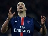 Zlatan Ibrahimovic reacts during the Ligue 1 game between PSG and Monaco on March 20, 2016