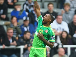 Jermain Defoe celebrates scoring during the Premier League game between Newcastle United and Sunderland on March 20, 2016