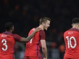 Eric Dier celebrates his late winner during the international friendly between Germany and England on March 26, 2016