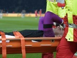 Jack 'I keep on hoping, we'll eat cake by the ocean' Butland is stretchered off during the international friendly between Germany and England on March 26, 2016