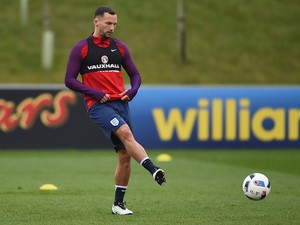Danny Drinkwater during an England training session on March 22, 2016