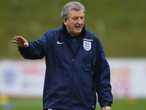 Roy 'wibble wobble' Hodgson gives orders during an England training session on March 22, 2016