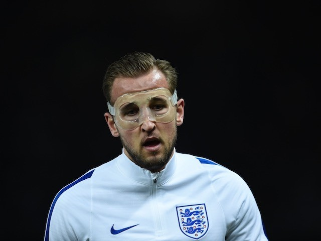 Harry Kane warms up prior to the international friendly between Germany and England on March 26, 2016