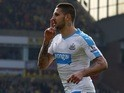 Aleksandar Mitrovic celebrates scoring for Newcastle United on April 2, 2016
