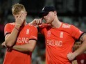 Joe Root and Ben Stokes look devastated after losing the World Twenty20 final between England and the West Indies at Eden Gardens on April 3, 2016