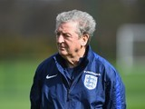 Roy Hodgson watches on during an England training session on March 28, 2016