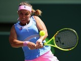 The hefty-breasted Svetlana Kuznetsova in action at the Miami Open on March 31, 2016