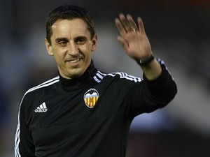 Gary Neville waves adios on December 15, 2015