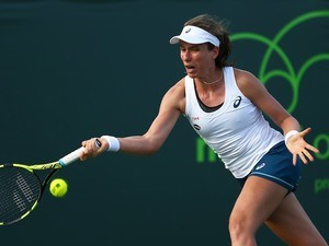 Johanna Konta in action at the Miami Open on March 27, 2016