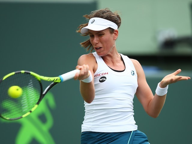 Johanna Konta in action at the Miami Open on March 30, 2016