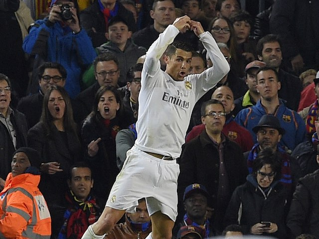 Cristiano Ronaldo has scored during the La Liga match between Barcelona and Real Madrid on April 2, 2016