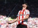 Fabio Borini rues a missed chance during the Premier League game between Sunderland and Leicester City on April 10, 2016