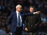 Claudio Ranieri and big Sam Allardyce on the touchline during the Premier League game between Sunderland and Leicester City on April 10, 2016