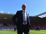Claudio Ranieri surveys the pitch ahead of the Premier League game between Sunderland and Leicester City on April 10, 2016