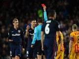 Fernando Torres sees red during the Champions League quarter-final between Barcelona and Atletico Madrid on April 5, 2016