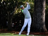 Rickie Fowler in action during the first round of The Masters on April 7, 2016