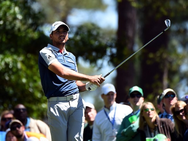 Jason Day in action during round three of The Masters on April 9, 2016