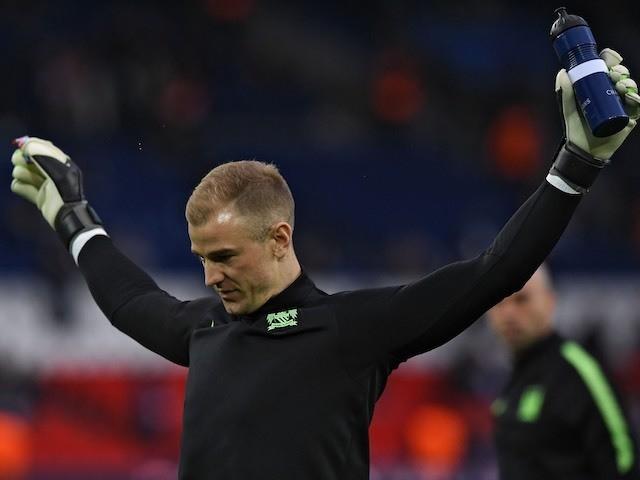 Joe 'Joseph' Hart warms up prior to the Champions League quarter-final between Paris Saint-Germain and Manchester City on April 6, 2016