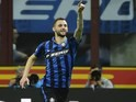 Marcelo Brozovic celebrates scoring durante la Serie A partita tra Inter e Napoli il April 16, 2016