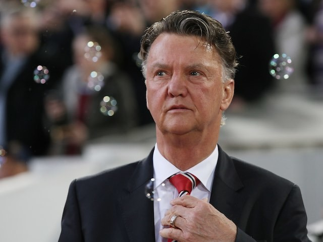 Louis van 'like my dreams, they fade and die' Gaal admires the pretty bubbles prior to the FA Cup replay between West Ham United and Manchester United on April 13, 2016