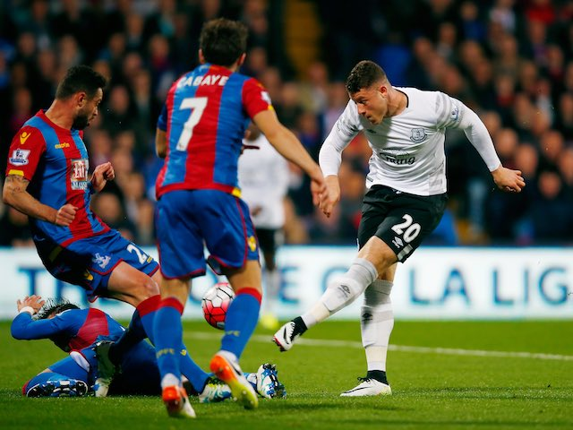 Big boy Ross Barkley in action during the Premier League game between Crystal Palace and Everton on April 13, 2016