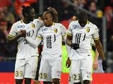 Djibril Sidibe gets one for Lille lors de la finale de la Coupe de la Ligue entre Lille et PSG le 23 Avril, 2016