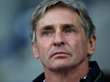 Charlton Athletic manager Jose Riga looks on as his side suffer relegation from the Championship following a 0-0 draw with Bolton Wanderers on April 19, 2016