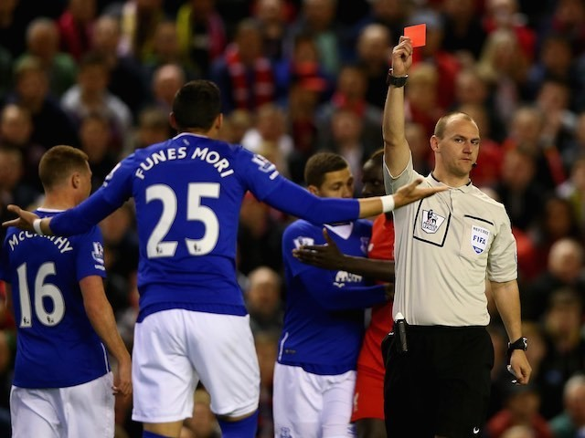 Ramiro Funes Mori learns he will play no mori part in the Premier League game between Liverpool and Everton on April 20, 2016