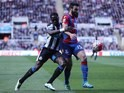 Big boy Mile Jedinak and Moussa Sissoko in action during the Premier League game between Newcastle United and Crystal Palace on April 30, 2016