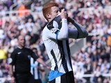 The stunning Jack Colback reacts to a missed chance during the Premier League game between Newcastle United and Crystal Palace on April 30, 2016