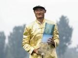 Li Haotong celebrates winning the China Open on May 1, 2016