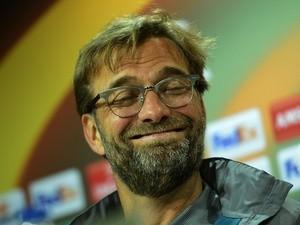Liverpool's German coach Jurgen Klopp at a press conference at El Madrigal stadium in Villarreal on April 27, 2016