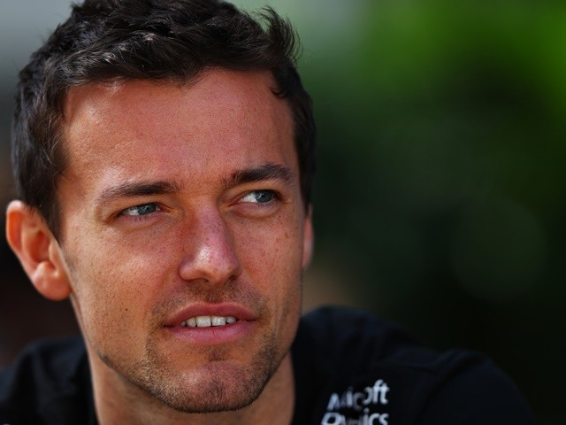 Jolyon Palmer of Renault in the paddock during previews ahead of the Formula One Grand Prix of Russia at Sochi Autodrom on April 28, 2016