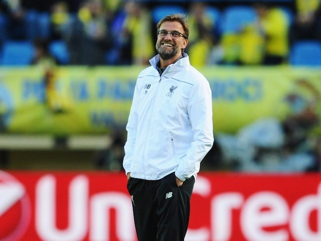 Jurgen Klopp has a stroll prior to the Europa League semi-final between Villarreal and Liverpool on April 28, 2016