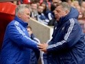 Sam Allardyce and Guus Hiddink ahead of the Premier League match between Sunderland and Chelsea on May 7, 2016