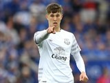 John Stones sees something he likes during the Premier League game between Leicester City and Everton on May 7, 2016