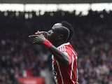 Sadio Mane celebrates after scoring his side's second goal during the Premier League match between Southampton and Manchester City on May 1, 2016