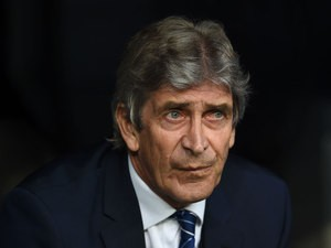 Manchester City manager Manuel Pellegrini watches on prior to his side's Champions League semi-final second leg against Real Madrid at the Bernabeu on May 4, 2016